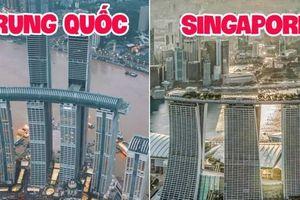 Trung Quốc ra mắt tòa nhà nằm ngang cao nhất thế giới, lập tức dính nghi án 'đạo nhái' một công trình nổi tiếng khác của Singapore?
