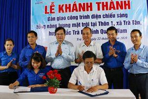 EVNCPC tặng hệ thống chiếu sáng năng lượng mặt trời tại xã Trà Tân