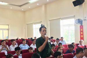 Đồng chí Vũ Hồng Thanh tiếp xúc cử tri TX Đông Triều