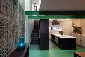 Tránh xa nắng nóng trong ngôi nhà màu xanh lá cây