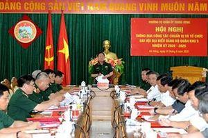 Thường vụ Quân ủy Trung ương thông qua công tác chuẩn bị và tổ chức Đại hội đại biểu Đảng bộ Quân khu 5