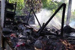 Cháy căn nhà sàn ở Đồng Tháp, một phụ nữ mắc bệnh tâm thần tử vong