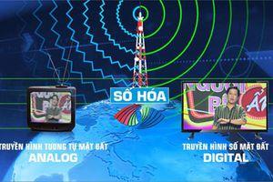 Ngừng phát sóng truyền hình tương tự mặt đất đối với 21 tỉnh, thành phố