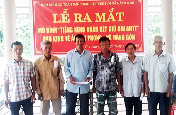 Ra mắt mô hình Tiếng kẻng đoàn kết tại xã Hàng Gòn