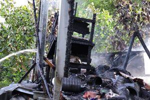 Cháy căn nhà sàn ở Đồng Tháp làm một người tử vong