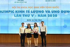 Sinh viên Ngoại thương giành giải đặc biệt Hội thi kinh tế lượng