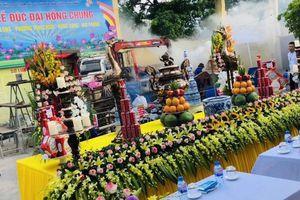 Trang nghiêm Đại lễ đúc chuông chùa Hưng Long (Hải Phòng)
