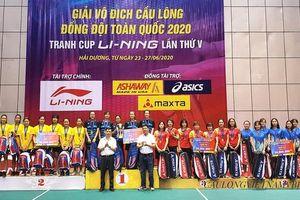 Đồng Nai đồng hạng ba đồng đội nữ Giải vô địch cầu lông đồng đội toàn quốc