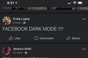 Ứng dụng Facebook trên smartphone có thêm chế độ nền tối