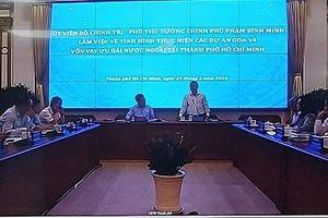 Phó Thủ tướng Phạm Bình Minh làm việc với UBND TPHCM về vấn đề giải ngân vốn ODA