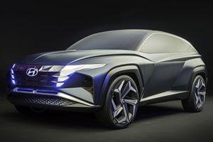 Hyundai Tucson 2021 lộ thiết kế nội thất với màn hình cảm ứng cỡ lớn