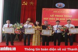 Đảng bộ Sở Xây dựng Thanh Hóa tổ chức lễ trao tặng huy hiệu 30 năm tuổi Đảng