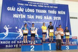 Giải cầu lông thanh thiếu niên H.Tân Phú năm 2020