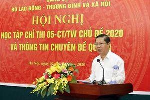 Đảng ủy Bộ LĐ-TB&XH tổ chức học tập Chỉ thị số 05-CT/TW chủ đề năm 2020