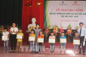 NSRP hỗ trợ học sinh, sinh viên hoàn cảnh khó khăn tại Thanh Hóa