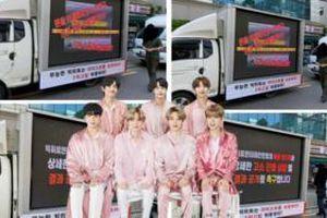 Fan BTS 'nổi trận lôi đình' mang xe tải tới tận công ty gây áp lực với Big Hit: Chuyện gì đang xảy ra?