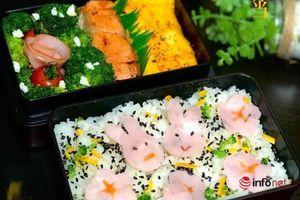 Vợ khéo tay làm cơm hộp kiểu Nhật cho chồng mang đi làm
