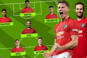 Đội hình M.U ra sao ở trận gặp Bournemouth khi vắng cả Pogba và Bruno?