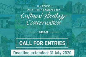 Kêu gọi tham gia: Giải thưởng châu Á-Thái Bình Dương của UNESCO về bảo tồn di sản văn hóa 2020