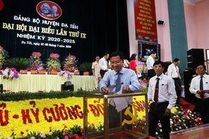 Đại hội đại biểu Đảng bộ huyện Đạ Tẻh (Lâm Đồng) bầu trực tiếp Bí thư Huyện ủy