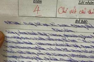 Dân mạng cười bò vì chữ viết như giun bò của nam sinh lớp 8
