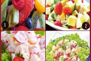 Cách làm salad hoa quả tươi ngon đơn giản cho bữa sáng