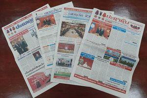 Truyền thông Lào đưa tin chuyến thăm Việt Nam của Thủ tướng Lào