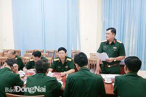 Chuẩn bị tốt mọi mặt hoàn thành Đại hội Đảng bộ Quân sự tỉnh nhiệm kỳ 2020-2025