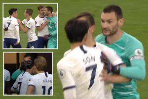 Son Heung Min suýt đánh nhau với thủ môn Hugo Lloris ngay trên sân