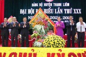 Hà Nam: Khai mạc Đại hội Đại biểu Đảng bộ huyện Thanh Liêm lần thứ XXX