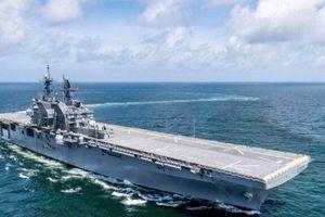 Hải quân Mỹ sắp biên chế tàu tấn công đổ bộ mới nhất USS Tripoli