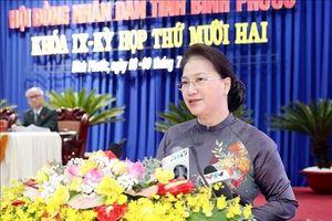 Chủ tịch Quốc hội dự Kỳ họp thứ 12, HĐND tỉnh Bình Phước