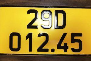 Ô-tô kinh doanh dịch vụ vận tải áp dụng biển số màu vàng
