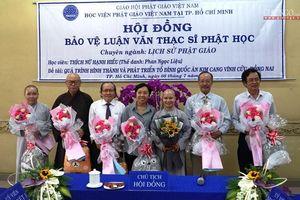 TP.HCM : 29 học viên bảo vệ luận văn Thạc sĩ Phật học