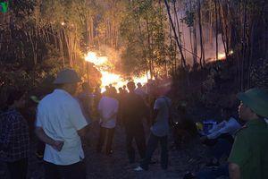 Hơn 7 giờ dập tắt đám cháy rừng ở Thanh Hóa