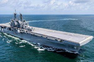 Hải quân Mỹ sắp biên chế siêu tàu tấn công đổ bộ mới nhất USS Tripoli