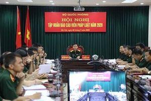 Hội nghị trực tuyến tập huấn báo cáo viên pháp luật toàn quân