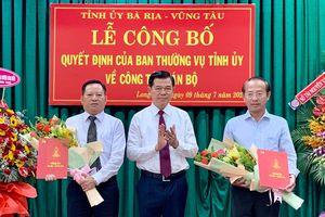 Công bố quyết định về công tác cán bộ tại huyện Long Điền