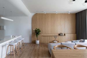 Căn hộ tối giản 120 m2 của gia đình trẻ 4 thành viên