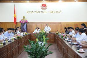 Bộ trưởng, Chủ nhiệm VPCP làm việc với UBND tỉnh Thừa Thiên Huế