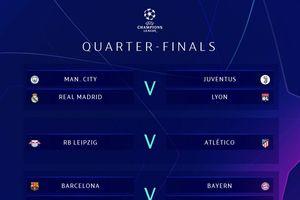 Bốc thăm vòng tứ kết Champions League: Chung kết sớm