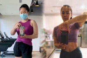 Không chỉ giảm cân lột xác, Lê Phương còn tự tin vén áo khoe cơ bụng căng đét