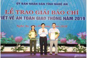 Tỉnh Nghệ An trao Giải báo chí viết về An toàn giao thông năm 2019