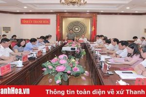 Đồng chí Phạm Minh Chính, Trưởng Ban Tổ chức Trung ương làm việc với Ban Thường vụ Tỉnh ủy Thanh Hóa