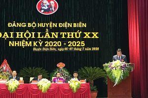 Đại hội đại biểu Đảng bộ huyện Điện Biên lần thứ XX - đại hội điểm cấp trên cơ sở của tỉnh tỉnh Điện Biên