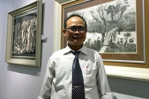 Trần Văn Quân 'chìm đắm' trong nghệ thuật đồ họa