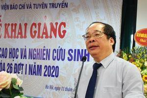 Học viện Báo chí và Tuyên truyền khai giảng các lớp cao học, nghiên cứu sinh khóa 26