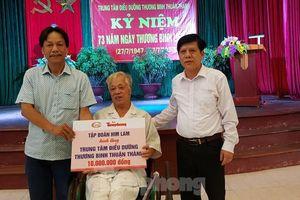 Tập đoàn Himlam tặng quà thương binh tại tỉnh Bắc Ninh, Bắc Giang