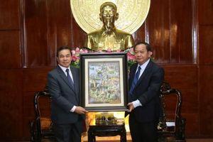 Lãnh đạo thành phố tiếp Đại sứ nước Cộng hòa Dân chủ nhân dân Lào