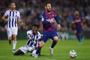 Valladolid 0-1 Barca: Messi kiến tạo, Vidal mở tỷ số (H1)